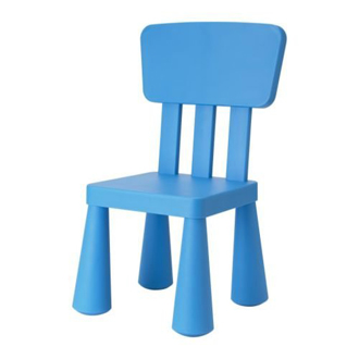 Ikea Blue Mammut Chair