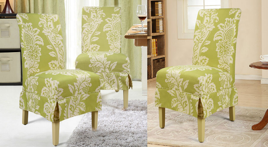 White Flower Dining Chair