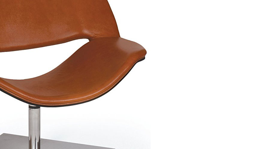 Brown Leather Contemporary Chair