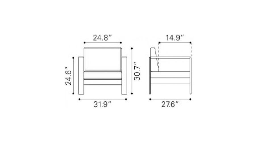 Cosmopolitan Arm Chair Dimensions