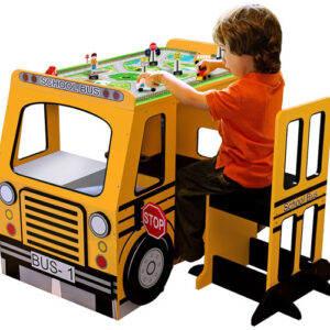 Teamson Kids School Bus Play Table and Chair Set
