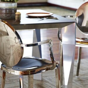 Stainless Steel Dining Arm Chairs