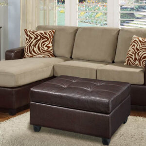 Bobkona Reversible 3-Piece Sofa