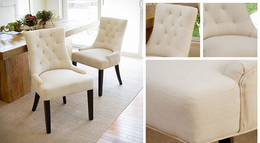 Tufted Fabric Dining Chairs