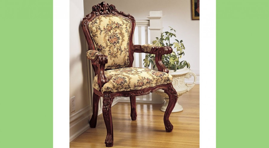 Design Toscano Rocaille Arm Chair
