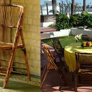Natural Bamboo Folding Chairs
