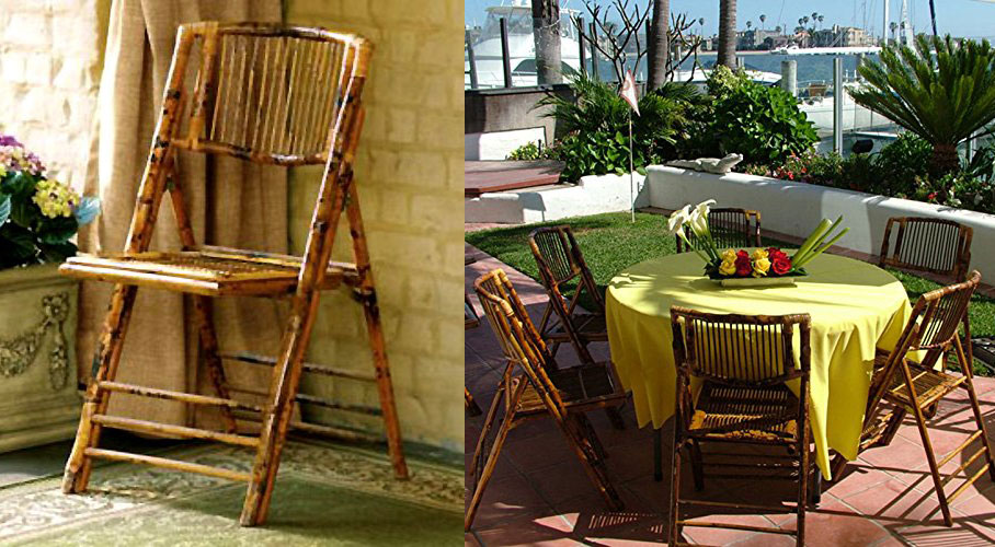 Natural Bamboo Folding Chairs