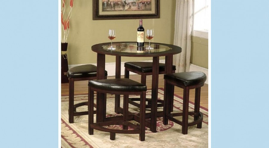Solid Wood Wedge Dining Chairs (with table)