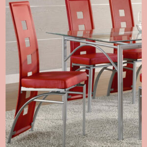 Coaster Red Dining Chair