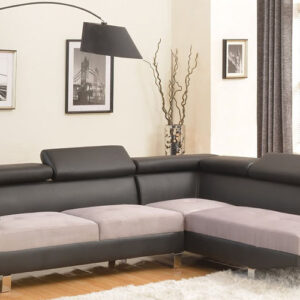 Modern Contemporary Two Tone Sofa
