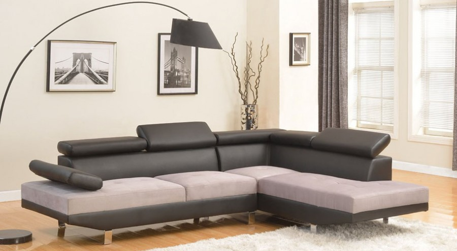 Modern Contemporary Two Tone Sofa