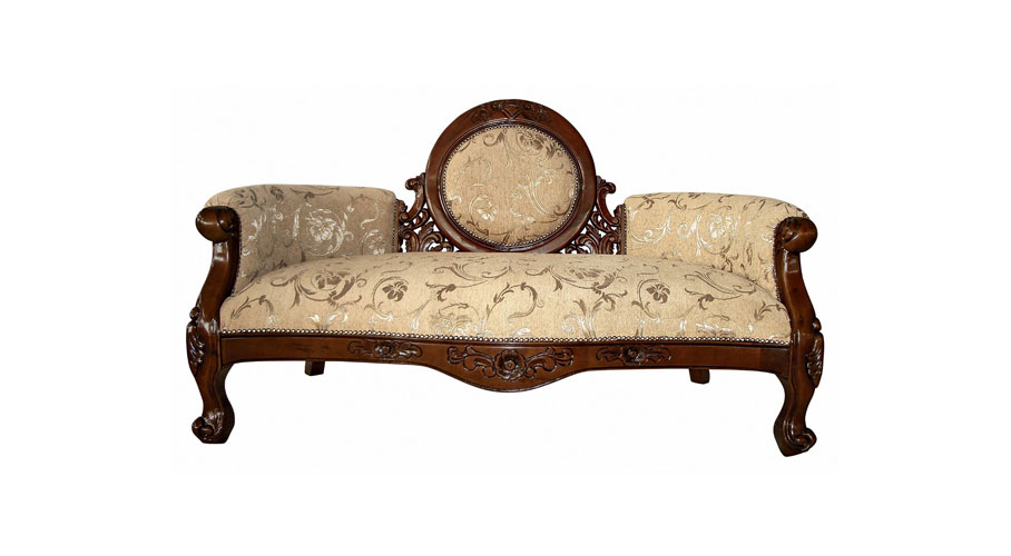 Victorian Cameo-Backed Settee