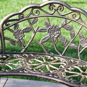 Antique Rose Garden Bench
