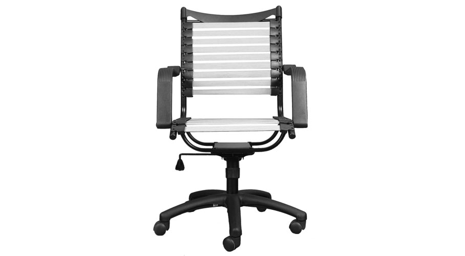 office cord index loops bungie style chair mid flat back euro bungee