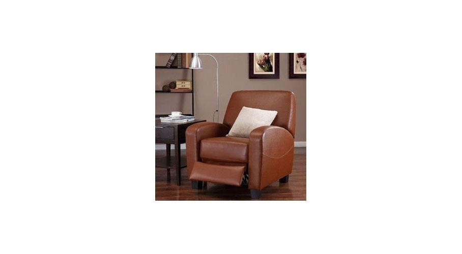 Camel Leather Recliner Chair ...