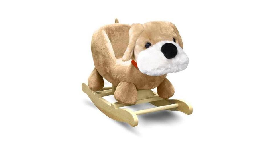 Fluffy Dog Rocking Chair