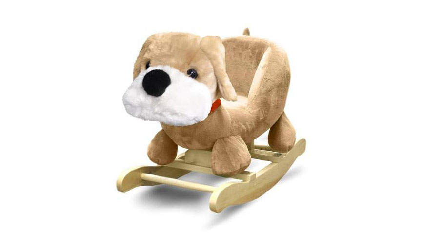 Fluffy dog rocking chair really cool chairs for Kids fluffy chair