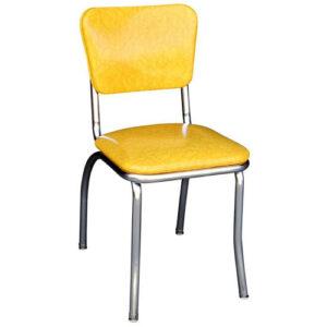 Yellow Cracked Ice Retro Diner Chair