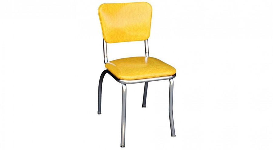 Yellow Cracked Ice Retro Diner Chair