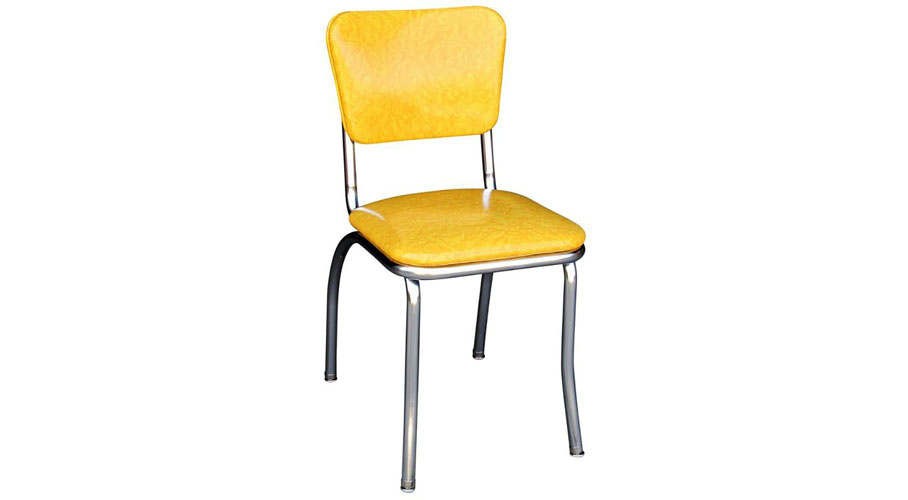 Yellow Cracked Ice Retro Diner Chair Really Cool Chairs