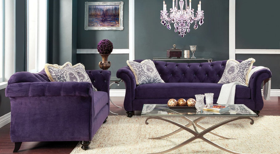 Wellington Purple Sofa