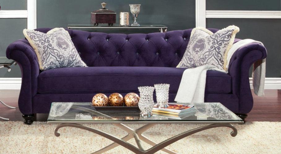 Wellington Purple Sofa