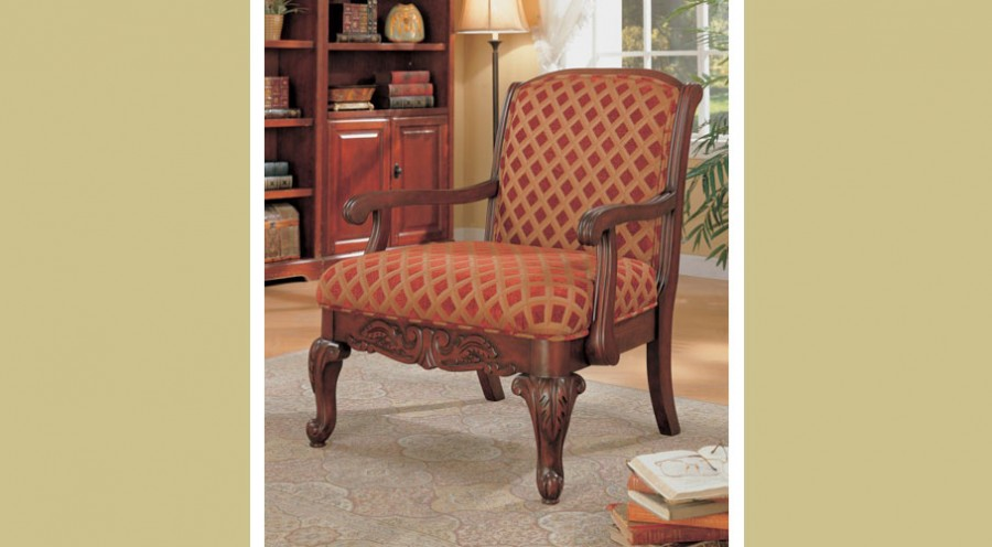 Chenille Decorative Accent Arm Chair