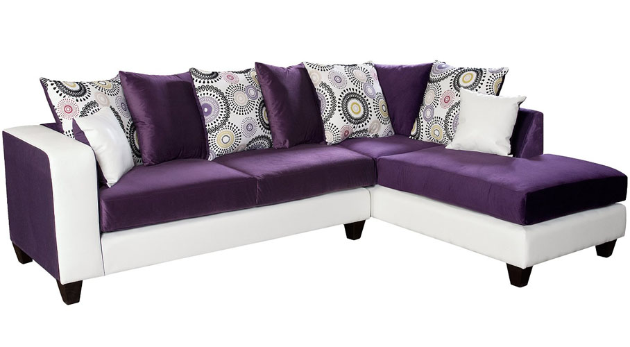 Riverstone Implosion Velvet Sectional Sofa
