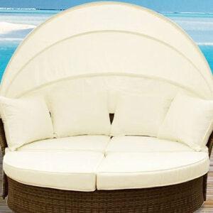 Outdoor Wicker Lounge Bed