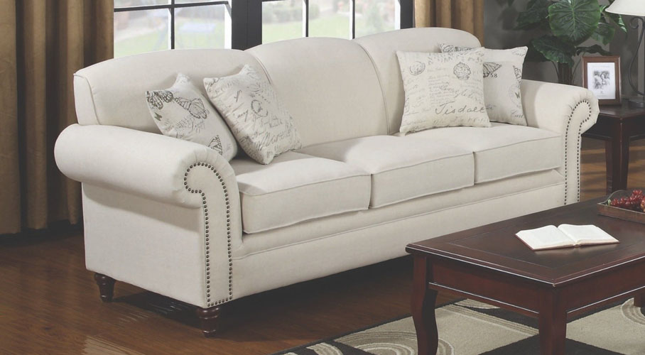 Coaster Cream Sofa