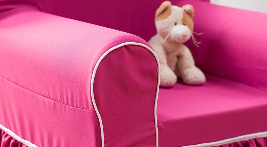 Pink Kids Ruffle Chair