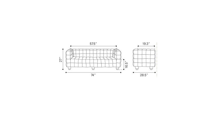 Modern Leatherette Sofa