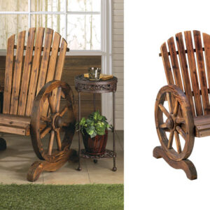 Wagon Wheel Garden Chair