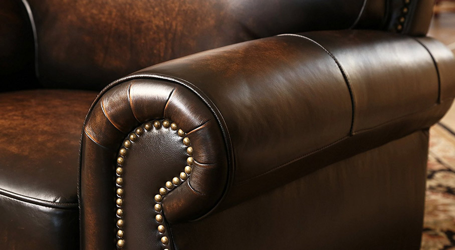 Abbyson Living Leather Sofa