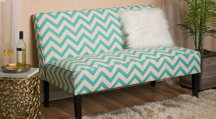 Alpha Herringbone Loveseat