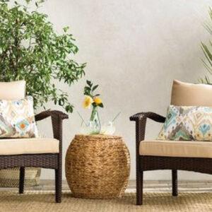 Wicker Patio Lounge Chair Set