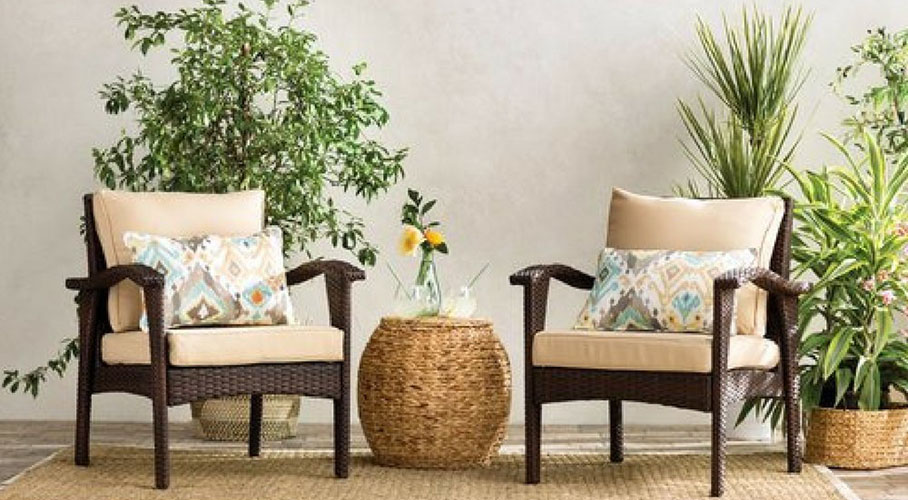 Wicker Patio Lounge Chair Set