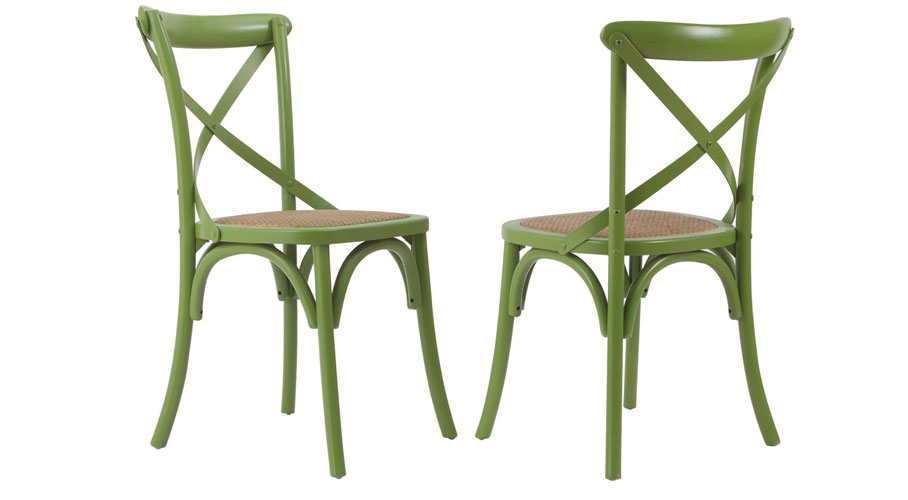 Joveco Elm Wood Dining Chairs (Set of 2)