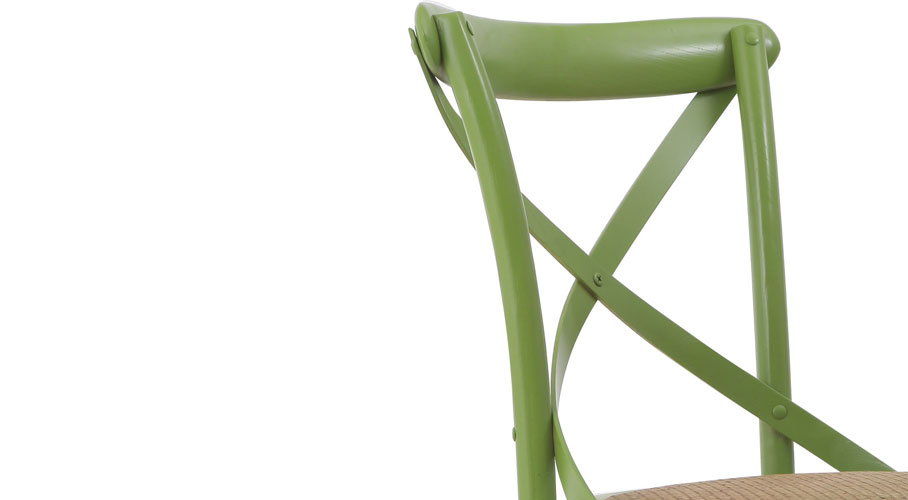 Joveco Elm Wood Dining Chair (X Back)