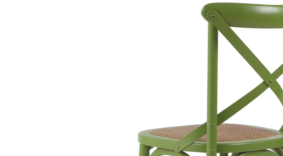 Joveco Elm Wood Dining Chairs (Back View)