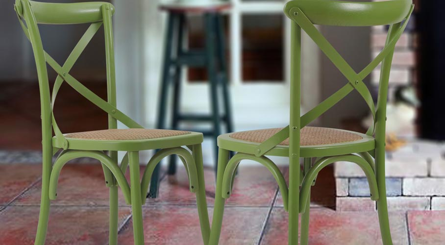 Joveco Elm Wood Dining Chairs
