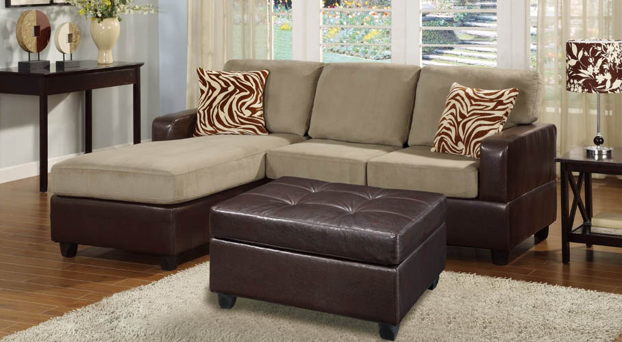 Bobkona Reversible 3-Piece Sofa