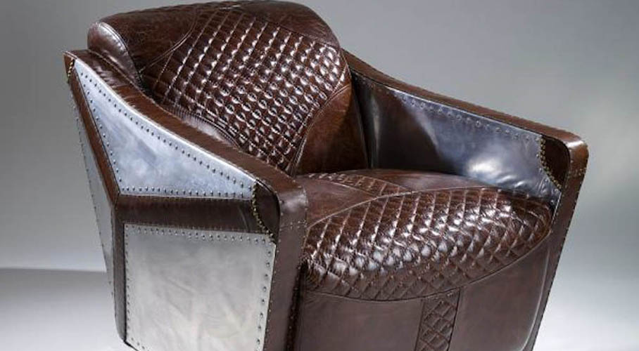 Leather & Metal Club Chair