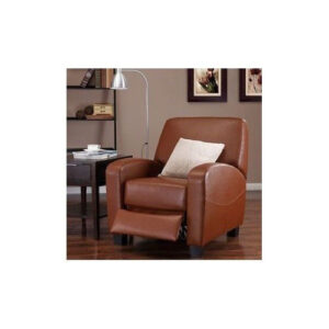 Camel Leather Recliner Chair