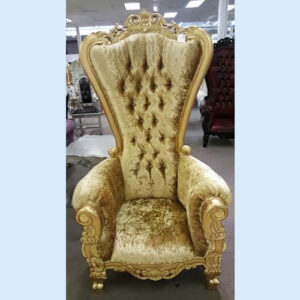 French Baroque High Back Chair
