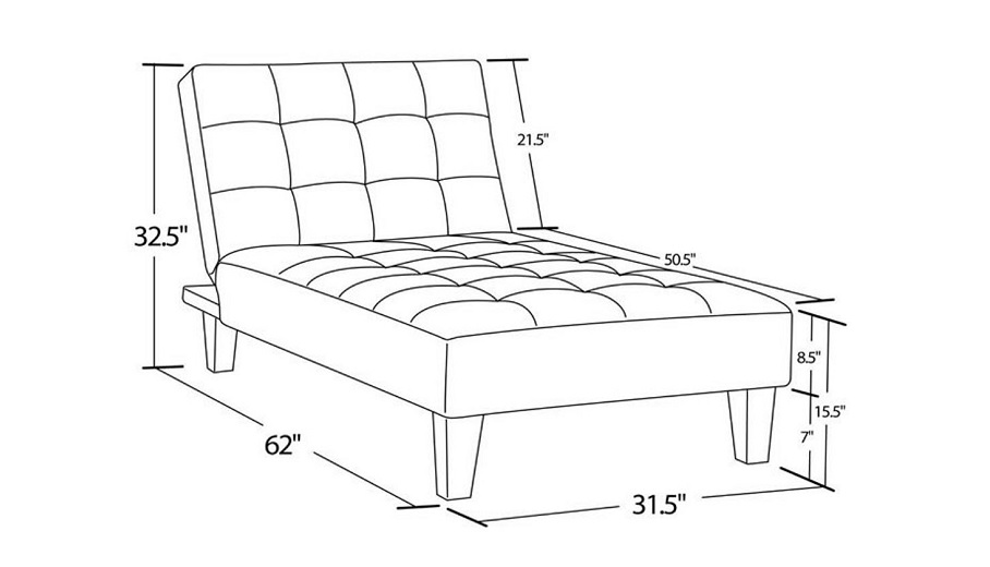Convertible Chaise Lounge Chair