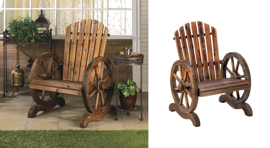 Wagon Wheel Garden Chair